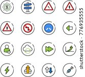 line vector icon set   dollar... | Shutterstock .eps vector #776935555