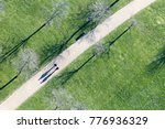 top view of people walking in... | Shutterstock . vector #776936329