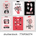 valentine s day card set   hand ... | Shutterstock .eps vector #776936374