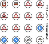 line vector icon set   parking... | Shutterstock .eps vector #776941111