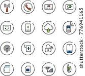 line vector icon set   antenna... | Shutterstock .eps vector #776941165
