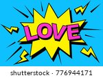 i love you. vector image. love... | Shutterstock .eps vector #776944171