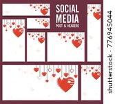 social media post or banners...   Shutterstock .eps vector #776945044