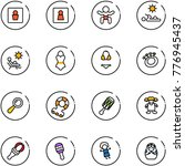 line vector icon set   male wc... | Shutterstock .eps vector #776945437