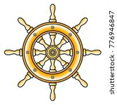 steering wheel ship vector icon ... | Shutterstock .eps vector #776946847
