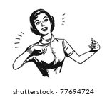 presentation lady   retro... | Shutterstock .eps vector #77694724