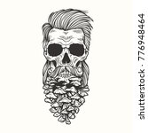 vector illustration skull with... | Shutterstock .eps vector #776948464