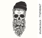 vector illustration skull with... | Shutterstock .eps vector #776948467