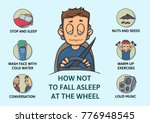 set of tips to stay awake while ... | Shutterstock . vector #776948545