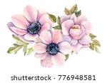 bouquet of flowers   anemones   ... | Shutterstock . vector #776948581