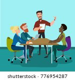 business characters in the... | Shutterstock .eps vector #776954287