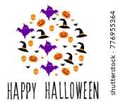 happy halloween card template.... | Shutterstock . vector #776955364
