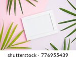 tropical mock up with white...