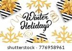 christmas. background for...   Shutterstock . vector #776958961