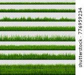 grass border collection  vector ... | Shutterstock .eps vector #776959234