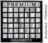 silver gradient backgrounds set.... | Shutterstock . vector #776960161