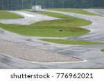 Small photo of VRANSKO, SLOVENIA - 1. MAY 2017 Amazing extremely winding go-kart scaled-down circuit where extreme drivers can test their performances.