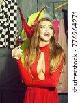 portrait of one sexual pretty...   Shutterstock . vector #776964271
