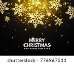 falling glitter snowflake and... | Shutterstock .eps vector #776967211