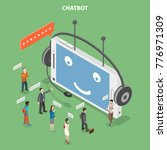 chatbot flat isometric vector... | Shutterstock .eps vector #776971309
