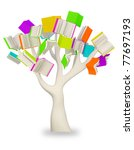 a book tree. clipping path | Shutterstock . vector #77697193