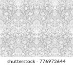 seamless red lace background... | Shutterstock .eps vector #776972644