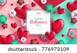 valentine's day concept...   Shutterstock .eps vector #776973109