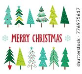 christmas greetings with... | Shutterstock .eps vector #776975617