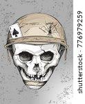 broken grinning skull in a...   Shutterstock .eps vector #776979259
