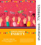 carnival photo booth party...   Shutterstock .eps vector #776980021