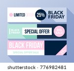 three horizontal black friday... | Shutterstock .eps vector #776982481