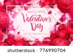 happy holidays  valentines day... | Shutterstock .eps vector #776990704