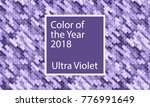 color of the year 2018. ultra... | Shutterstock .eps vector #776991649