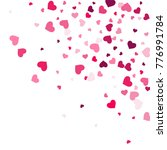 heart confetti beautifully... | Shutterstock .eps vector #776991784