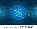 sci fi futuristic user... | Shutterstock .eps vector #776995405