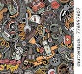 cartoon cute doodles automotive ...   Shutterstock .eps vector #776997607