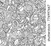 cartoon cute doodles latin... | Shutterstock .eps vector #776997667