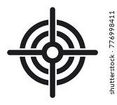 target vector icon  flat design ... | Shutterstock .eps vector #776998411