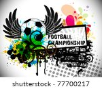 pattern theme soccer background ... | Shutterstock .eps vector #77700217