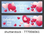 valentine's day love and... | Shutterstock .eps vector #777006061