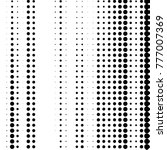 grunge halftone black and white ... | Shutterstock .eps vector #777007369