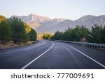 open road  landscape with empty ... | Shutterstock . vector #777009691