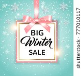 decorative vector winter... | Shutterstock .eps vector #777010117