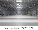 large modern empty storehouse | Shutterstock . vector #77701324