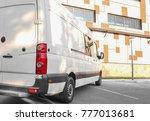 white van parked on street   Shutterstock . vector #777013681