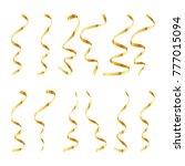 gold serpentine or confetti ... | Shutterstock .eps vector #777015094