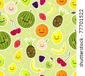 fruits seamless pattern. vector ...   Shutterstock .eps vector #77701522