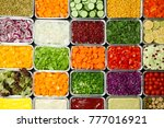 top view of salad bar with... | Shutterstock . vector #777016921