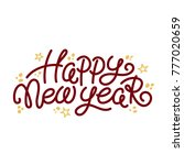 happy new year greeting text... | Shutterstock .eps vector #777020659