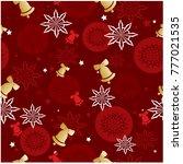 vector seamless pattern... | Shutterstock .eps vector #777021535